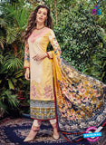 Kashmir Beauty 01 Yellow and Beige Lawn Cotton Party Wear Suit