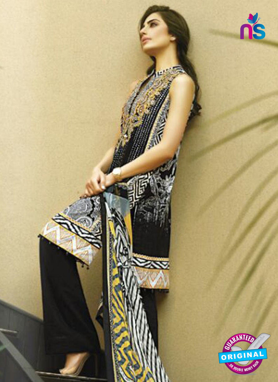 SC 12688 Black and Multicolor Printed Lawn Suit