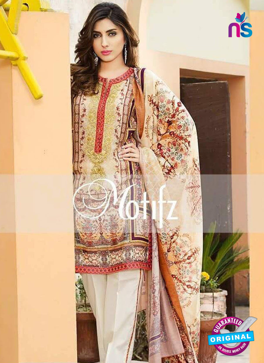 NS 12467 Multicolor and White Digital Printed Cotton Lawn Party Wear Suit