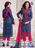 SC 14084 Blue and Pink Exclusive Fancy Designer Straight Suit