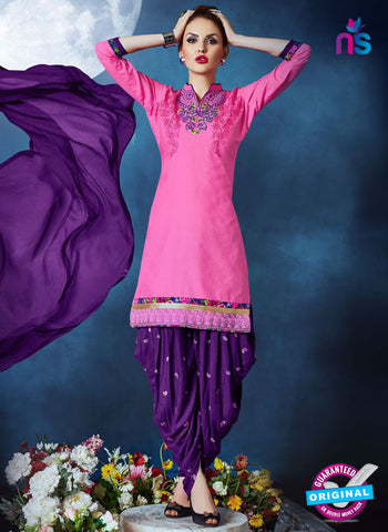 Meghali 02 Pink Cotton Patiala Suit