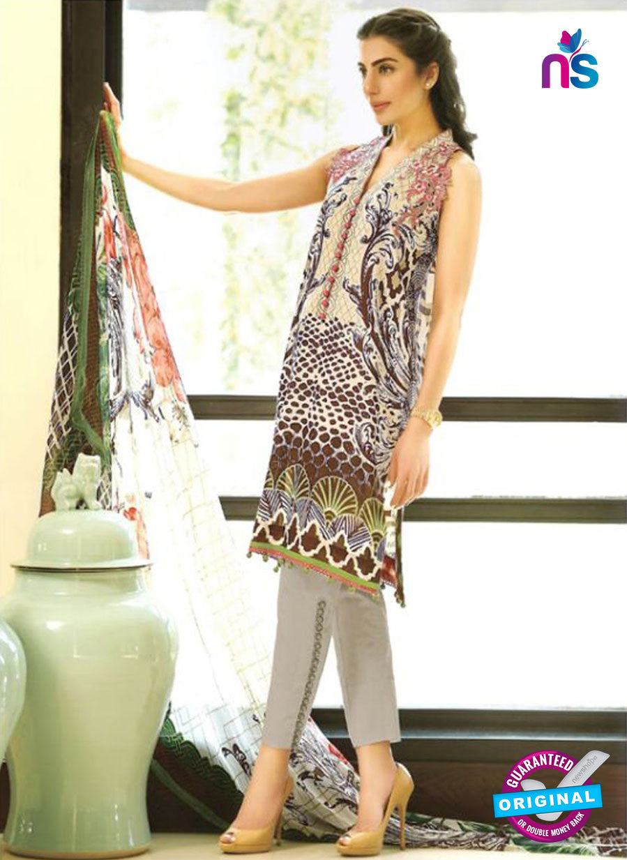 SC 12686 Multicolor and Grey Printed Lawn Suit