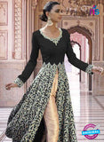 SC 13351 Black and Golden Exclusive Designer Party Wear Designer Suit Online