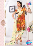 NS11102 Red and Yellow Cambric Patiala Suit