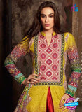 NS 12382 Yellow and Red Printed Pure Lawn Suit Online