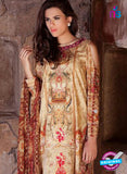 SC 12369 Beige and Multicolor Embroidered Patch Pure Lawn Cotton Suit