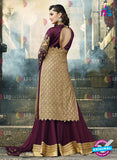 AZ 2089 Georgette Embroidery Purple Pakistani Suit