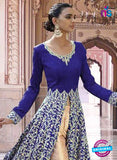 SC 13354 Blue and Golden Exclusive Designer Party Wear Designer Suit Online