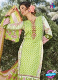 SC 12628 Green and Multicolor Heavy Embroidered Lawn Cotton Pakistani Suit