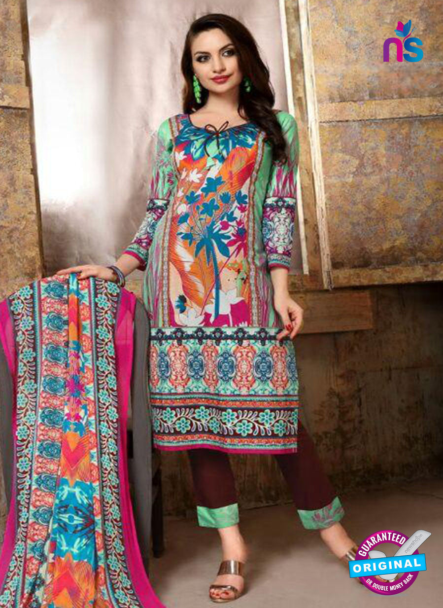 SC 13739 Multicolor and Brown Cotton Designer Fancy Exclusive Printed Long Straight Suit