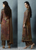 Sahiba 03 Brown Color Cotton Satin Designer Suit