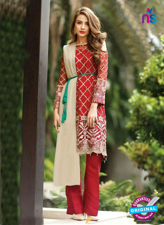SC 14003 Red Faux Georgette Fancy Traditional Function Wear Pakistani Suit