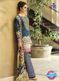 SC 12690 Blue and Multicolor Printed Lawn Suit