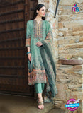 T&M 04 Sea Green Cotton Satin Exclusive Fancy Designer Straight Plazo Suit