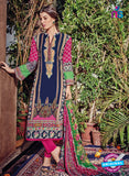 Kashmir Beauty 04 Blue and Pink Lawn Cotton Party Wear Suit