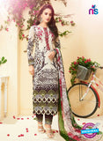 SC 13517 Beige and Multicolor Designer Fancy Cambric Suit