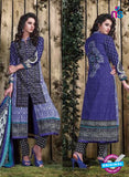 SC 12702 Blue and Black Original Lawn Straight Suit