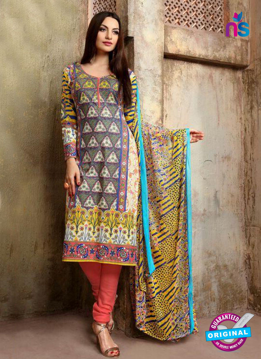 SC 13738 Multicolor and Peach Cotton Designer Fancy Exclusive Printed Long Straight Suit