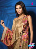 SC 13111 Brown and Pink Satin Silk Party Wear Kurti Online