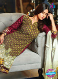 SC 13637 Maroon and Multicolor Embroidered Lawn Pakistani Suit Online