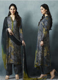 Sahiba 04 Grey Color Cotton Satin Designer Suit