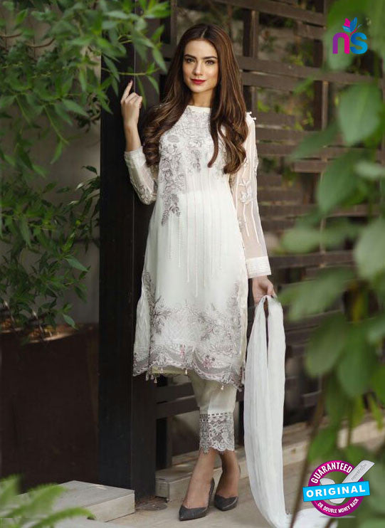 SC 14000 White Faux Georgette Fancy Traditional Function Wear Pakistani Suit