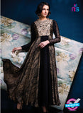 Ishimaya 04 Black Color Net Satin Designer Gawn