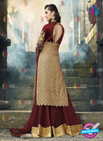 AZ 2091 Georgette Embroidery Maroon Pakistani Suit