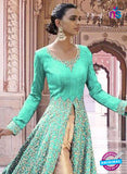 SC 13352 Sea Green and Golden Exclusive Designer Party Wear Designer Suit Online