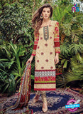 Kashmir Beauty 05 Grey and Beige Lawn Cotton Party Wear Suit
