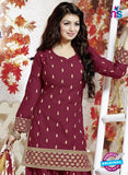 SC 13142 Maroon Cotton Patiyala Suit