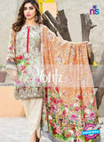 NS 12465 White and Multicolor Digital Printed Cotton Lawn Party Wear Suit