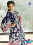 SC 12691 Blue and Pink Printed Lawn Wear Suit