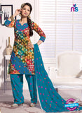 NS11105 Light Blue and Pink Cambric Patiala Suit