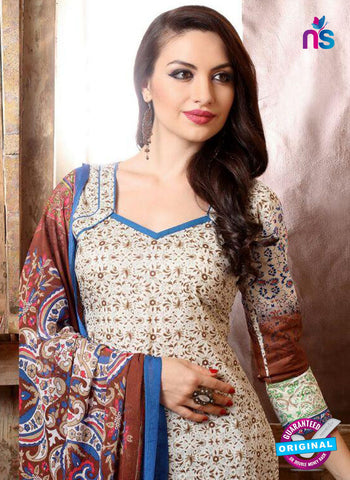 SC 13737 Beige and Brown Cotton Designer Fancy Exclusive Printed Long Straight Suit Online