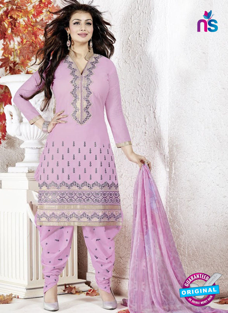 SC 13140 Pink and Grey Cotton Patiala Suit