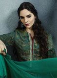 Sahiba 06 Green Color Cotton Satin Designer Suit