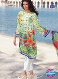 SC 12367 Multicolor and Green Embroidered Patch Pure Lawn Cotton Suit
