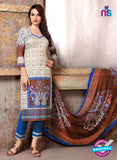 SC 13737 Beige and Brown Cotton Designer Fancy Exclusive Printed Long Straight Suit