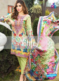 NS 12468 Green and Multicolor Digital Printed Cotton Lawn Party Wear Suit