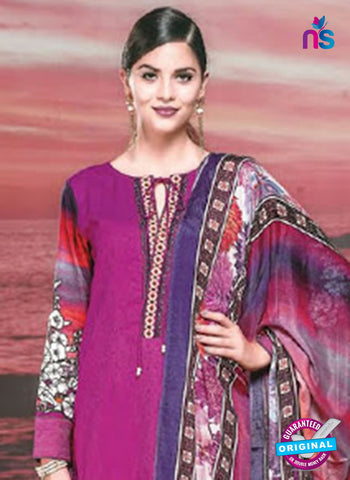 NS 12422 Magenta Cotton Satin Jacquard Party Wear Straight Suit Online