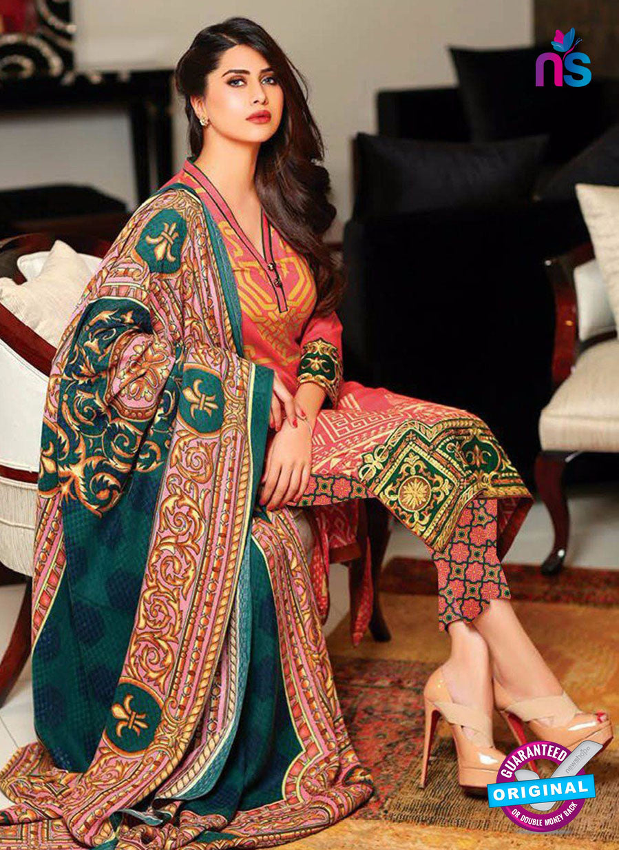 SC 13632 Multicolor Embroidered Lawn Pakistani Suit