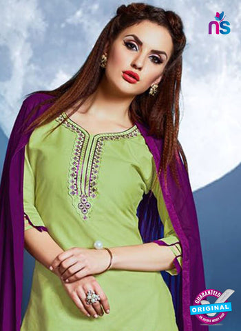 Meghali 07 Green Cotton Patiala Suit