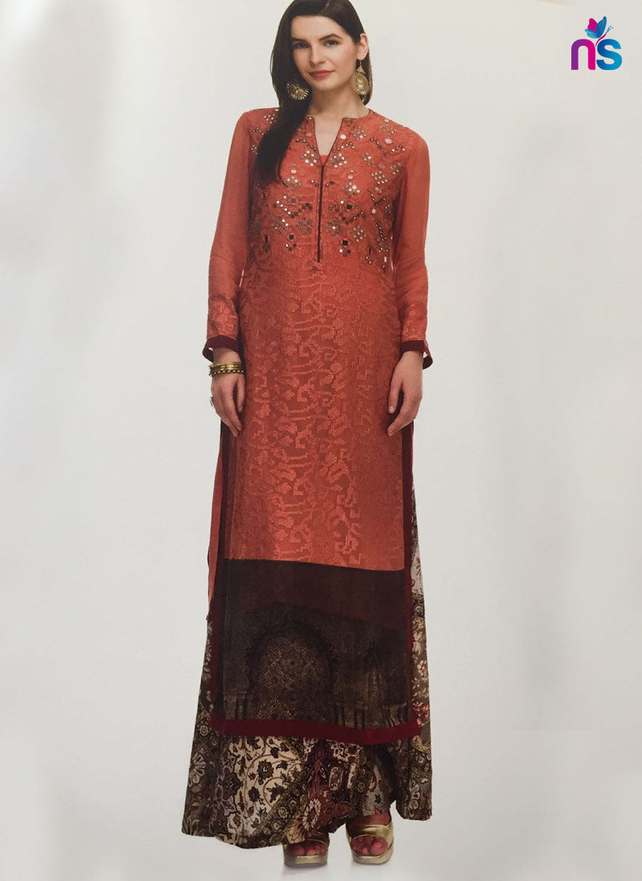 Maple 06  Red Color Georgette Designer Suit