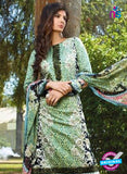 SC 12632 Green and Black Heavy Embroidered Lawn Cotton Pakistani Suit