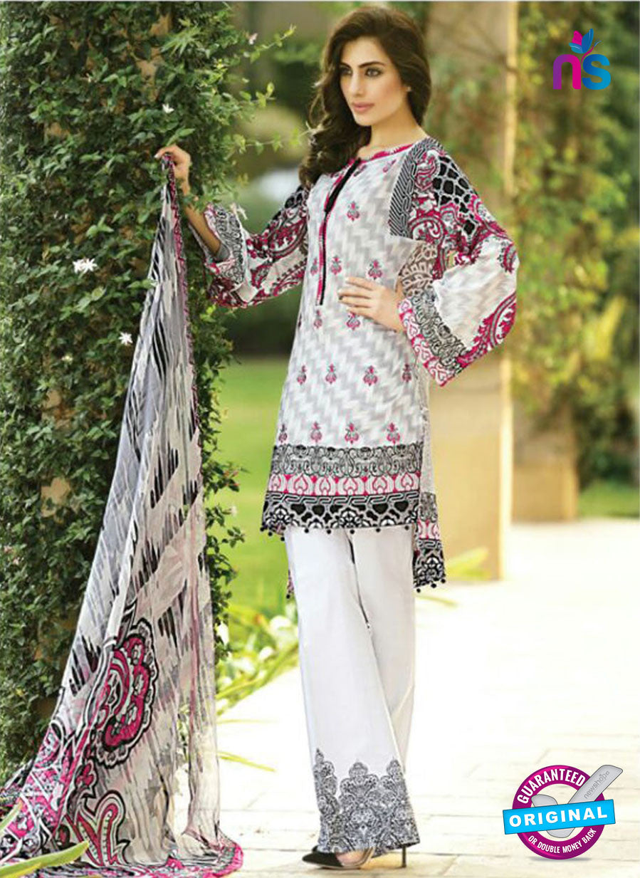 SC 12683 White and Multicolor Printed Lawn Suit