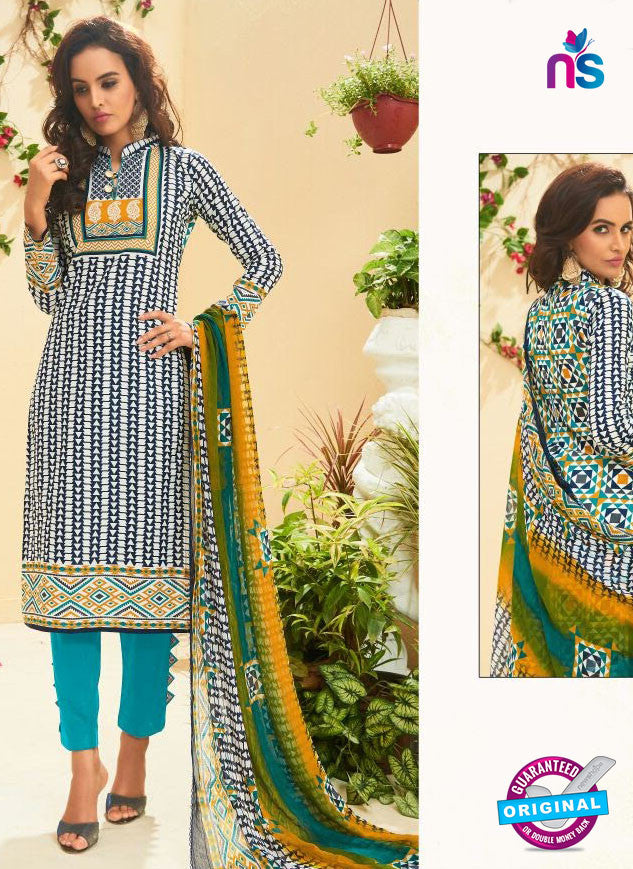 SC 13516 Multicolor and Sky Blue Designer Fancy Cambric Suit