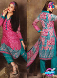NS 12388 Pink and SeaGreen Printed Pure Lawn Suit