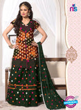 NS11108 Green and Yellow and Pink Cambric Patiala Suit