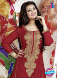SC 13139 Maroon Cotton Patiala Suit